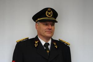 Serge Vander Ougstraete Brandweercommandant Deinze 1983